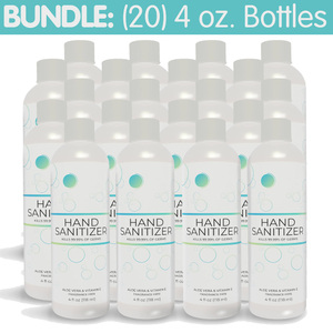 Premium Hand Sanitizer Gel - 70% Alcohol Bundle of (20) 4 oz. Bottles (HS4OZ-20PACK)