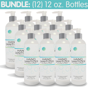 Premium Hand Sanitizer Gel - 70% Alcohol Bundle of (12) 12 oz. Pump Top Bottles (HS12OZ-6PACK X 2)