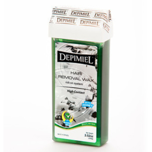 Depimiel - Soft Strip Wax From Brazil - Roll On High Contact 3.52 oz. per Cartridge Case of 50 Cartridges (5223-Case)