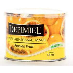 Depimiel - Soft Strip Wax From Brazil - Passion Fruit 14 oz. Cans Case of 12 Cans (5263-Case)