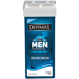 Depimiel - Soft Strip Wax From Brazil - Roll On Men's Formula 3.52 oz. per Cartridge Case of 50 Cartridges (5245-Case)