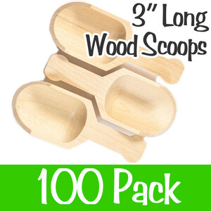 "Wood Scoopers - 3"" Long x 1.25"" Wide Case of 100 (SCOOP 3)"