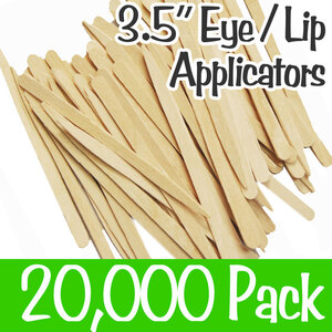"Eye Lip Applicators - 3.5"" Long 20 Boxes of 1000= Case of 20000 (Eyebrow 90)"