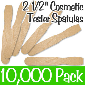 "Cosmetic Tester Spatulas - 2.5"" Long 20 Boxes of 500 = Case of 10000 (Cosmetic 2.5)"