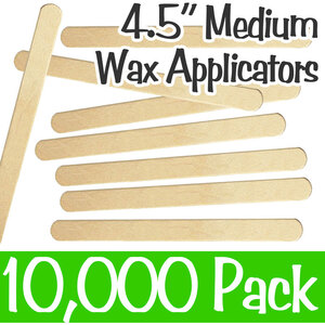"Medium Waxing Sticks - 4.5"" Long x 38"" Wide 10 Boxes of 1000 = Case of 10000 (ASO910B)"