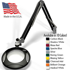 "Green-Lite - 6"" Round LED Magnifier - 43"" Reach - Fully Dimmable with 3 Bank LED Adjustability Available in 10 Colors + 5 Base Options (42X00-X)"