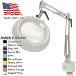 "Big Eye™ 7.5"" Round Magnifier - 43"" Reach - Fluorescent Full Spectrum Tube Bulb Available in 10 Colors + 5 Base Options (52X00-X)"