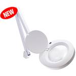 "ProVue SuperSlim LED Magnifying Lamp 36"" Reach Arm + 8-Diopter (3X) Magnification + 60 LED Lights + White Color (26501-LED-8D)"
