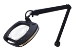 "Mighty Vue LED Magnifying Lamp - ESD Safe 32"" Reach Arm + 5-Diopter (2.25X) Magnification + 36 LED Lights + Black Color (26505-ESL-5D)"
