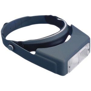 OptiVisor Headband Magnifier - Optical Glass Prismatic Lenses 2x Magnification
