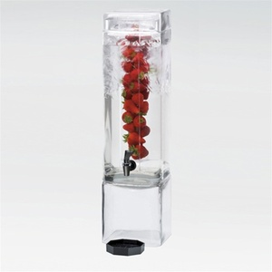 Square Acrylic Flavor Infusion Beverage Dispenser 3 Gallons (1112-3AINF)