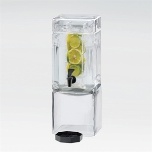 Square Glass Flavor Infusion Beverage Dispenser 1.5 Gallons (1112-1INF)