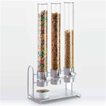 "Multi-Tower Cereal-Snack Dispenser Stainless Steel - 34"" Tall! (1490-55)"