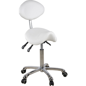 Xena Saddle Stool with Backrest (1025)