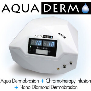 AquaDerm 4-in-1 Rejuvenation System - Aqua Hydrodermabrasion + Chromotherapy Infusion + Nano Diamond Dermabrasion + Serum Infusion