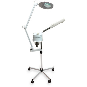 Cecy 2-in-1 LED 3-Diopter Magnifying Lamp + Ozone Facial Steamer Combo (AH-623)