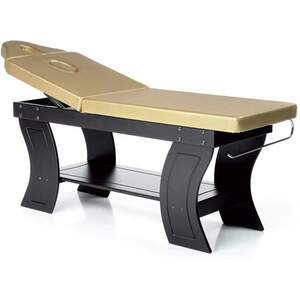 The Gold Multi-Purpose Massage + Beauty Bed Wenge Cherry or Natural Frame Finish + 18 Upholstery Color Choices (LE-LL0300)