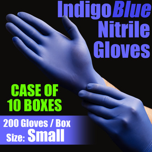 IndigoBlue Nitrile Exam Gloves Powder-Free Non-Sterile Nitrile Examination Gloves Size Small 200 per Box X 10 Boxes = Case of 2000 Gloves (MG505S-CASE)