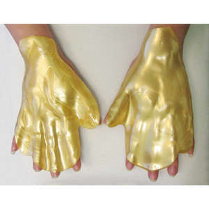 Body Treatment Mask - 24K Gold Collagen Hand Mask Pack of 10 Pair - Each Pair is Single Use (MX9006 X 10)