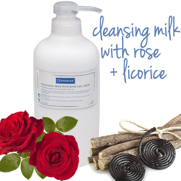 Cleansing Milk With Rose 3 Bottles X 20.2 fl. oz. (600 mL.) = 60.6 oz. Total (1.8 Liters) (ER-202P X 3)