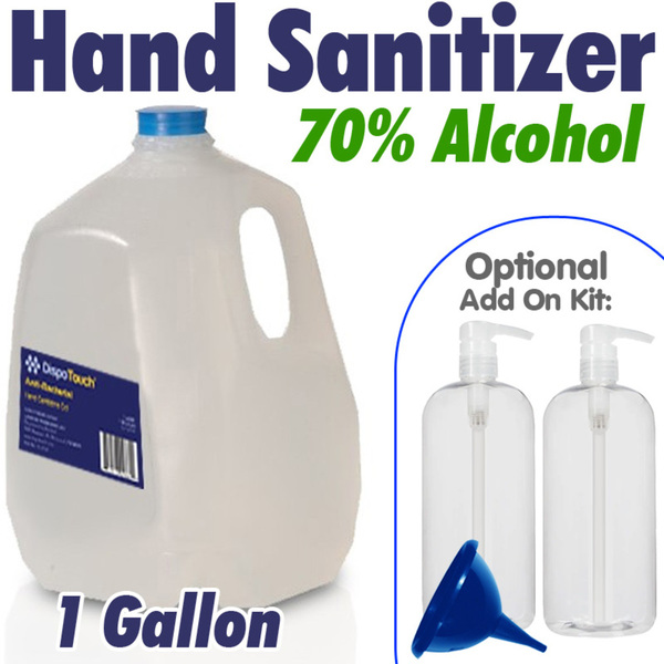Anti-Bacterial Hand Sanitizer - 70% Alcohol / 128 oz. - 1 Gallon