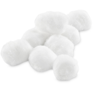 Cotton Balls - Medium 100 per Bag X 96 Bags = Case of 9600 Medium Cotton Balls (0234411 X 96)