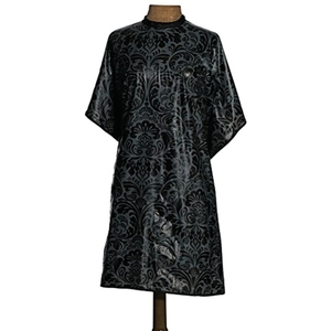 "1907 Damask Shampoo Cape - Black 36"" x 54"" by Fromm (NTA020)"