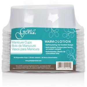 GENA Ultra Manicure Cups - White Packof 25 Cups (1005)