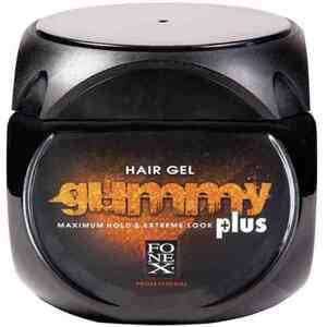 Gummy Hair Gel Maximum Hold & Extreme Look Plus - Orange 7.4 oz - 220 mL. (GU102C)