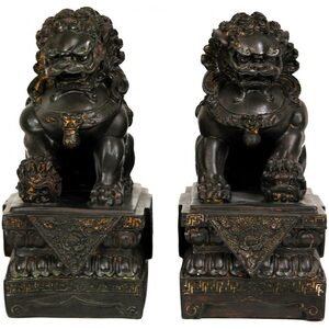 "9"" Foo Dog Statues Set of Two (STA-LION)"