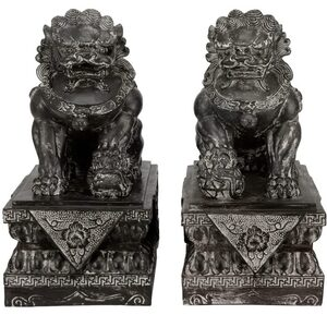 "18"" Sitting Foo Dog Statues (STA-LION4)"
