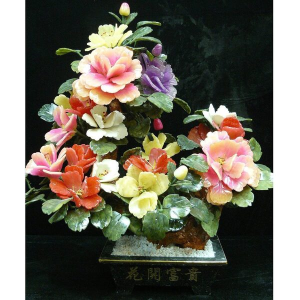 "22"" Jade Potted Flower with Multi- Color Blossoms (GFT_JAD_SA992)"