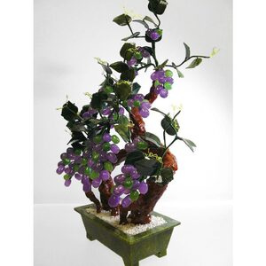 "22"" Ming Jade Potted Plant with Lavender Grapes (GFT_JAD_SA20A4)"