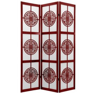 6 ft. Tall Long Life Shoji Screen Room Divider - Natural Rosewood or Black 3 Panels 4 Panels 5 Panels or 6 Panels (SSCLL)