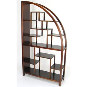 "Hangzhou Curio Display Shelving Unit - Brown 40""W x 12""D x 72""H (WB-5542)"