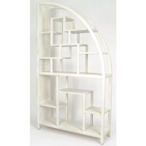 "Hangzhou Curio Display Shelving Unit - White 40""W x 12""D x 72""H (WB-5542W)"