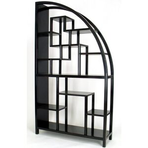 "Hangzhou Curio Display Shelving Unit - Black 40""W x 12""D x 72""H (WB-5542B)"