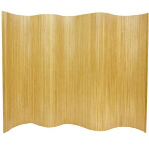6 ft. Tall Bamboo Wave Screen - Natural Honey Dark Mocha or White (BF-75)