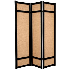 6 ft. Tall Jute Shoji Screen - Natural Honey Rosewood or Black 3 Panels 4 Panels 5 Panels or 6 Panels (JKSHOJI)