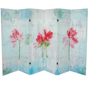 5 14 ft. Tall Spring Morning Canvas Room Divider (CAN-GITA4)