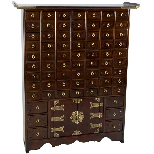 Authentic East Asian Herbal Medicine Apothecary Chest - 69 Drawers (KRN-A-16)