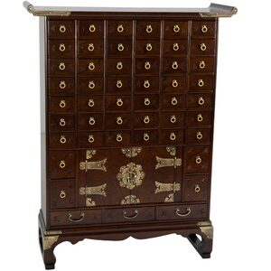 Authentic East Asian Herbal Medicine Apothecary Chest - 49 Drawers (KRN-A-12)