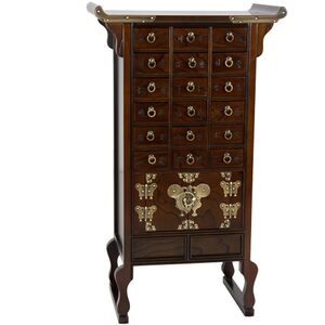 Authentic East Asian Herbal Medicine Apothecary Chest - 18 Drawers (KRN-A-4)