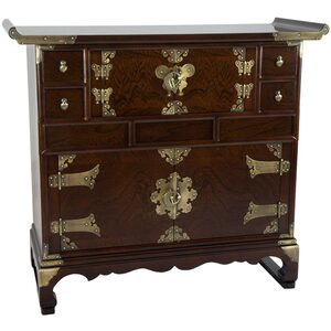 Asian Double Cabinet Design Scholar's Chest (KRN-C-1XL)