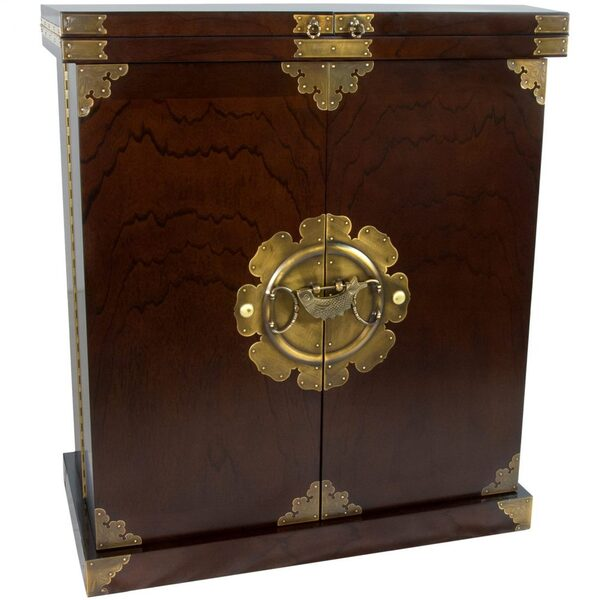 Asian Antique Style Liquor Cabinet Wine Bar (KRN-H-12)