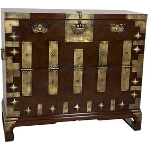 Asian Bandaji Antique Style Blanket Chest (KRN-H-8)