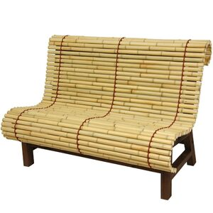 Curved Japanese Bamboo Bench (WD99089)