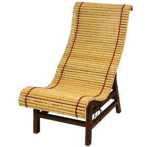 Curved Japanese Bamboo Lounge Chair (WD99091)