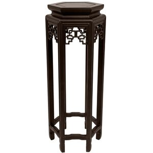 "28"" Rosewood Hexagon Plant Stand (ST-STAND21)"