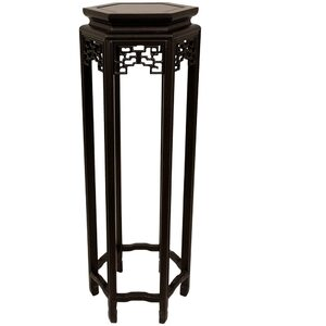 "36"" Rosewood Hexagon Plant Stand (ST-STAND22)"
